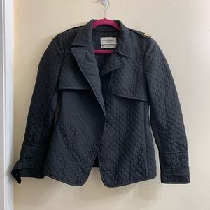 YSL black quilted jacket size F38